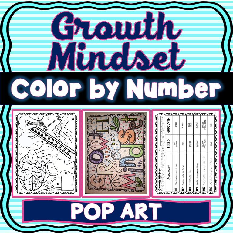 Growth Mindset: Color by Number