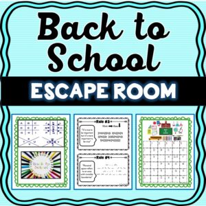 Back to School Escape Room – Classroom Rules Activity