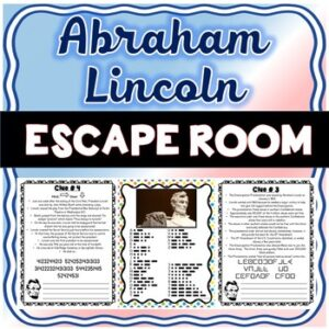 Abraham Lincoln ESCAPE ROOM: Civil War, President's Day