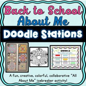 Back to School About Me Doodle Stations – Icebreaker Activity!