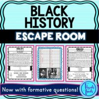 Black History Escape Room cover