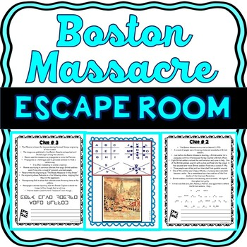 Boston Massacre ESCAPE ROOM: Causes of the Revolutionary War – Print & go!