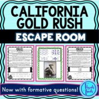 California Gold Rush Escape Room Picture
