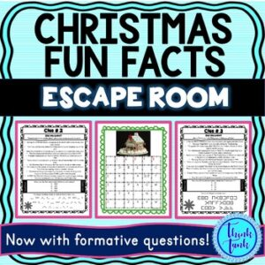Christmas Fun Facts ESCAPE ROOM picture
