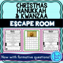 Christmas Hanukkah and Kwanzaa Escape Room picture