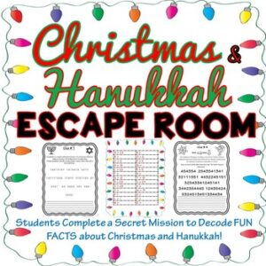 Christmas and Hanukkah Holiday ESCAPE ROOM – December / Winter /Chanukah
