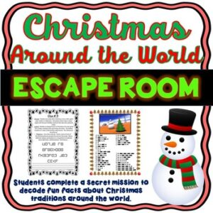 Christmas Around the World ESCAPE ROOM – December Fun – Traditions