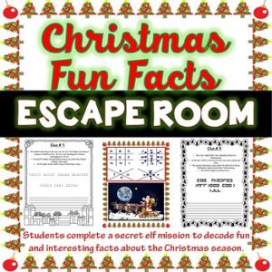 Christmas Season ESCAPE ROOM – December Festive Facts