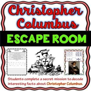 Christopher Columbus ESCAPE ROOM Activity – Columbus Day