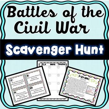 Civil War Battles Scavenger Hunt -Task Cards – Abraham Lincoln