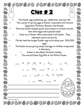 Easter ESCAPE ROOM – Fun Trivia Facts – Holiday Activity – Print & go!