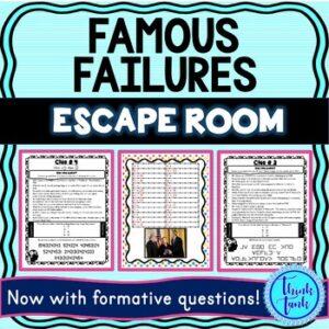 Famous Failures Escape Room Picture