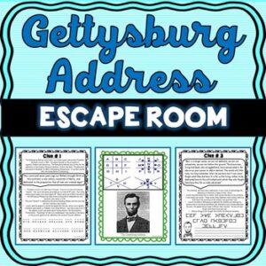 Gettysburg Address ESCAPE ROOM: – Abe Lincoln
