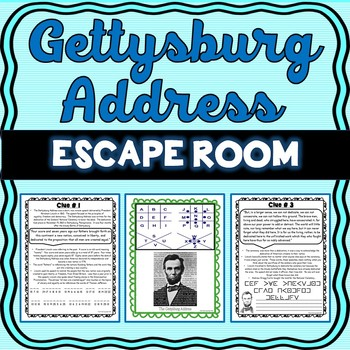 Gettysburg Address ESCAPE ROOM: – Abe Lincoln