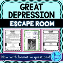 Great Depression Escape Room Picture