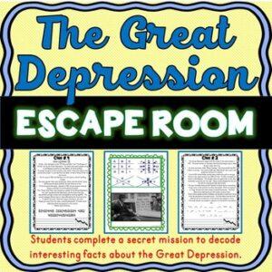 Great Depression ESCAPE ROOM: Dust Bowl, Roaring Twenties, Stock Market