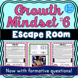 Growth Mindset ESCAPE ROOM #6 Activity: Inspirational Quotes from Famous Figures