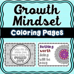 Growth Mindset Doodle Coloring Pages