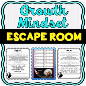 Growth Mindset ESCAPE ROOM Activity: Inspirational Quotes from Famous Figures