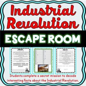 Industrial Revolution ESCAPE ROOM: Samuel Morse, Henry Ford – Print & Go!
