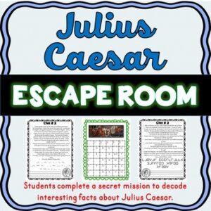 Julius Caesar ESCAPE ROOM: Ancient Rome – Shakespeare