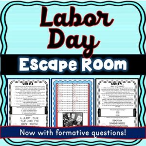 Labor Day Escape Room – Holiday Activity- September