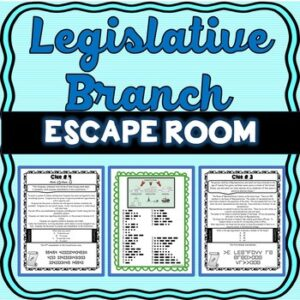 Legislative Branch ESCAPE ROOM: Congress, U.S. Constitution