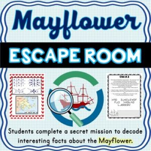 Mayflower ESCAPE ROOM: Mayflower Compact – Pilgrims – Print & Go!