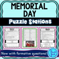 Memorial Day Puzzle stations picture