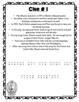 Paul Revere ESCAPE ROOM: American Revolution, Boston Tea Party, Print & Go!