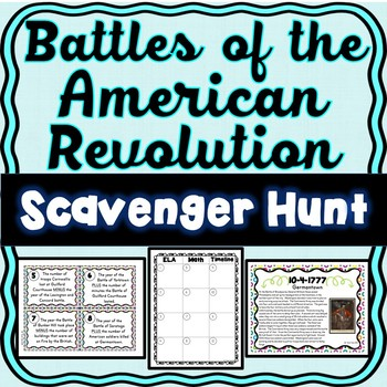 Revolutionary War Battles Scavenger Hunt -Task Cards – American Revolution