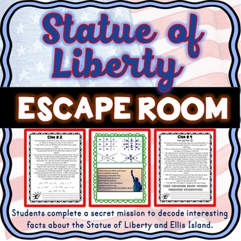 Statue of Liberty ESCAPE ROOM: Ellis Island, Immigration, 4th of July – NO PREP!