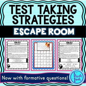 Test Taking Strategies ESCAPE ROOM picture