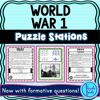 World War I PUZZLE STATIONS picture