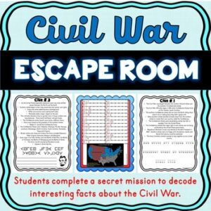 Civil War Escape Room Activity – Abraham Lincoln