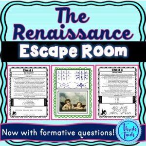 Renaissance ESCAPE ROOM: Da Vince, Michelangelo, Raphael – Print & Go