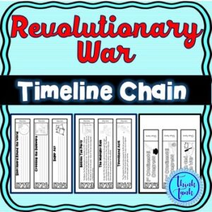Revolutionary War Timeline Chain Links : Five options
