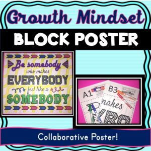Growth Mindset Collaborative Poster! Team Work Activity – Team Building