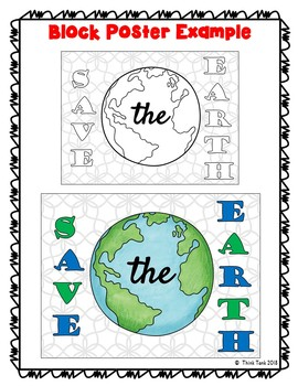 Earth Day Collaborative Poster! – Team Work Activity – Save the Earth