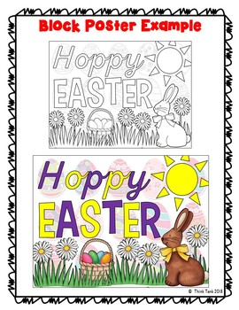 Easter Collaborative Poster! – Team Work Activity – Hoppy Easter