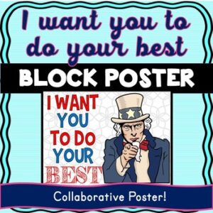 Growth Mindset Collaborative Poster! Team Work – Uncle Sam