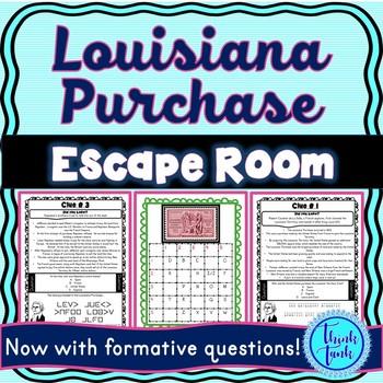 Louisiana Purchase ESCAPE ROOM: Thomas Jefferson and Napoleon