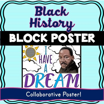 Martin Luther King Collaborative Poster! Black History – Team Work