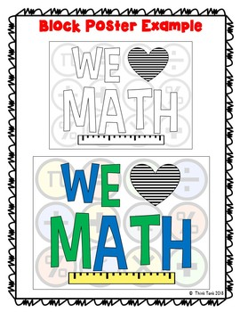 Math Collaborative Poster! Team Work – We Love Math