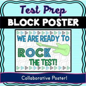 Test Prep Collaborative Poster! Team Work Activity – Test Motivation