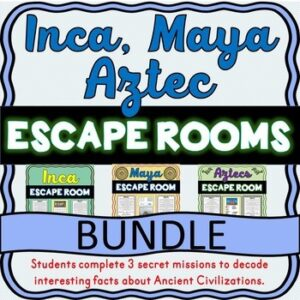 Inca, Maya, Aztecs ESCAPE ROOM BUNDLE: Ancient Civilizations