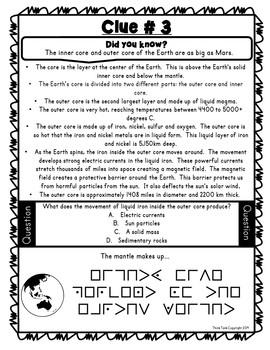 Layers of the Earth Escape Room! – Earth Science – NO PREP, PRINT & GO!