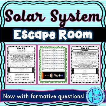 Solar System ESCAPE ROOM! – Earth Science – NO PREP, PRINT & GO!