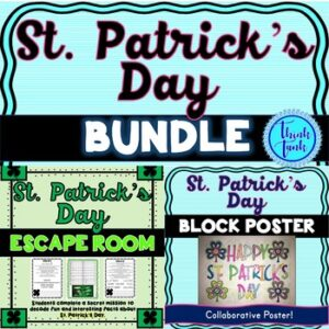 St. Patrick's Day Escape Room and Collaborative Poster BUNDLE!
