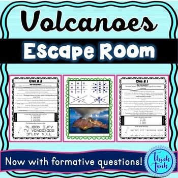 Volcanoes Escape Room! Natural Disasters – Earth Science – NO PREP, PRINT & GO!